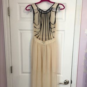 Poof long sheer dress